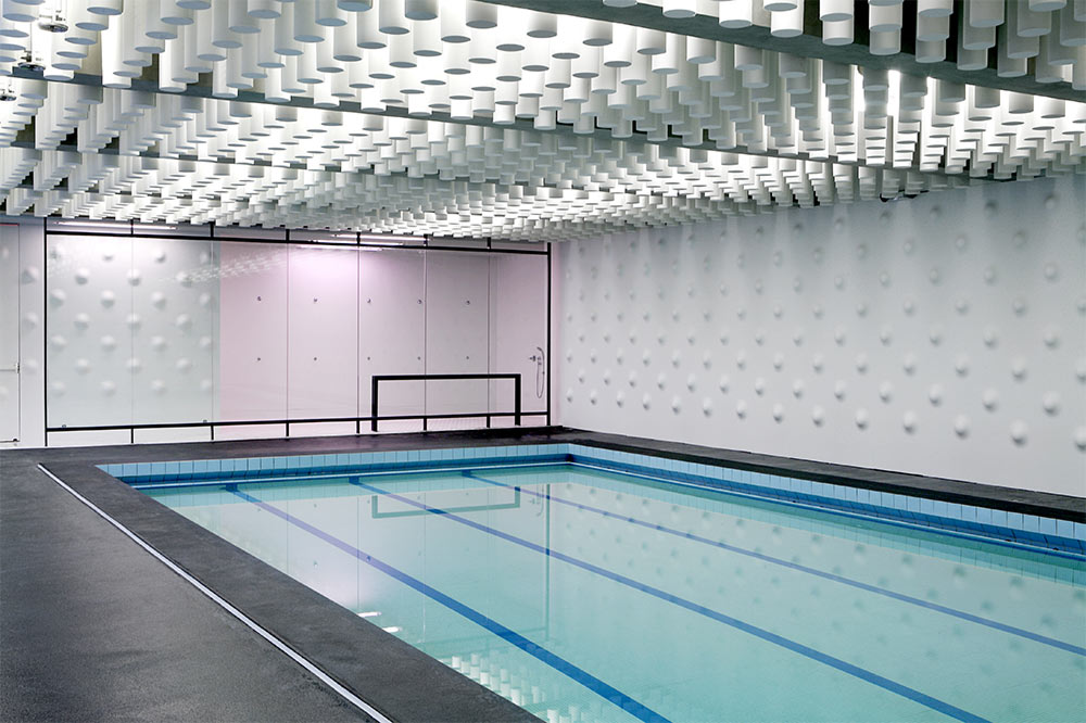 Atlas Swimming pool; Design: Yoonseux Architects, France; Engineering: ETHA; Fabrication: ASKA Interior, France; Photo credit: © Alexandra Mocanu